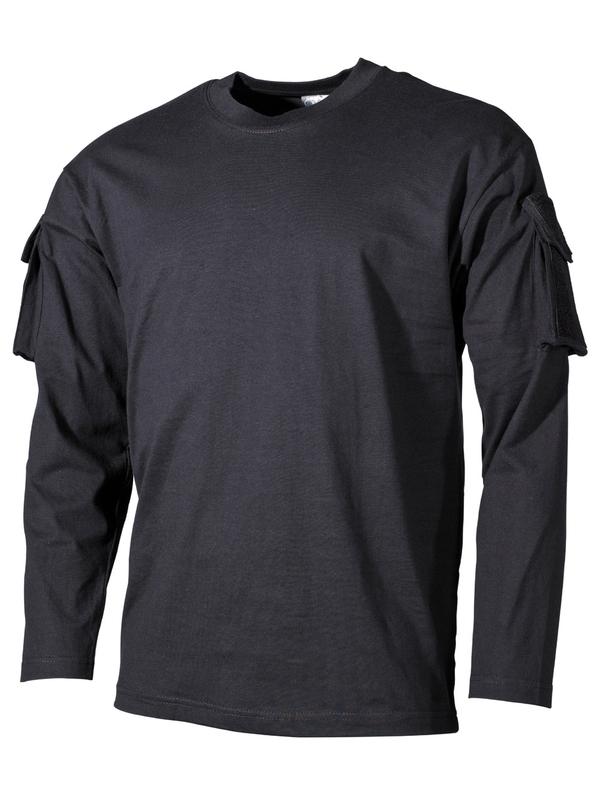 06eba66170ae0 US tričko , dlhý rukáv , vrecko na rukáve , čierne - RVC Klement.sk