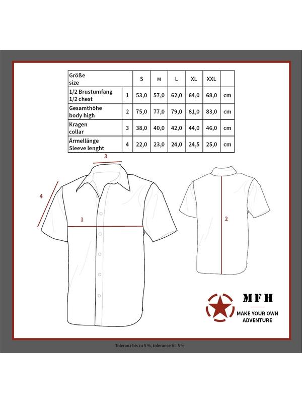 1b2f46f78075 Outdoorová košeľa s krátkym rukávom