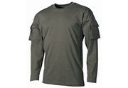 7ea3eebbe Originál US tričko prestížnej značky MFH s dlhým rukávom a vrecúškami na .